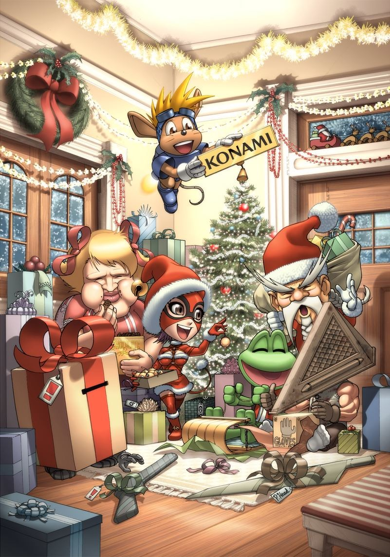 Even the vidja game characters need Christmas.