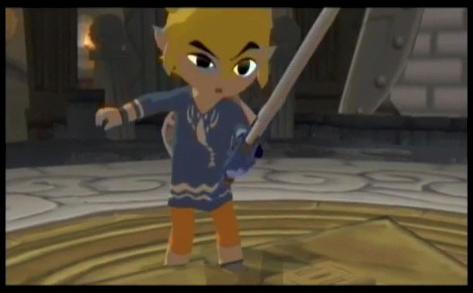 Lookin funny at a sword.